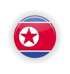 North korea icon circle vector