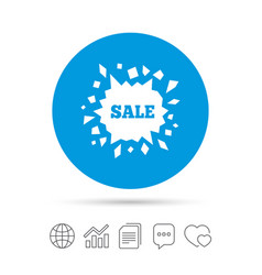 Sale icon cracked hole symbol vector