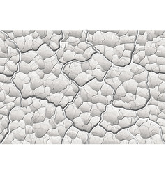 White decorative plaster with convex elements and vector