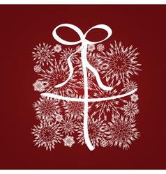 Xmas gift box of snowflake vector image vector image