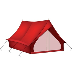 Red tent vector image