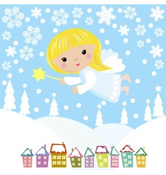 Cute christmas angel vector