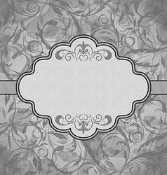 Vintage greeting card seamless floral texture vector image