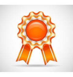 Orange medal vector image