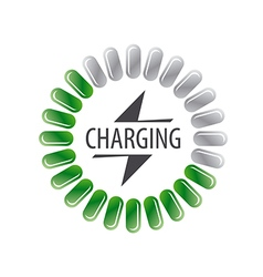 Round logo battery charging vector