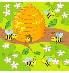 Cartoon beehive vector