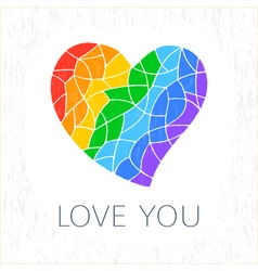 Colorful heart poster vector