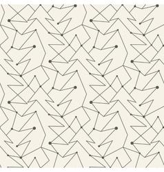 Seamless christmas tree line pattern tile vector