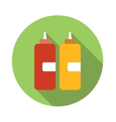 Ketchup flat icon vector