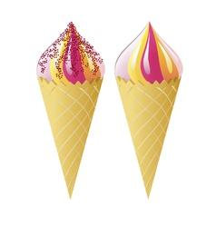 waffle cones vector image