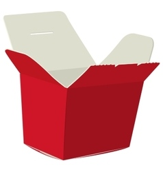 Japanese food box Red open box for noodle vector image