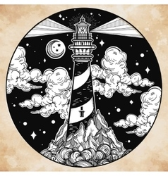 Decorative lighthouse vector