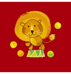 Kiddy circus red lion vector