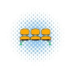 Airport seats icon comics style vector