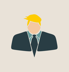 businessman in suit icon vector image