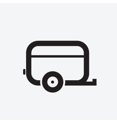 Caravan icon vector