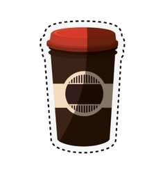 coffee glass drink isolated icon vector image vector image