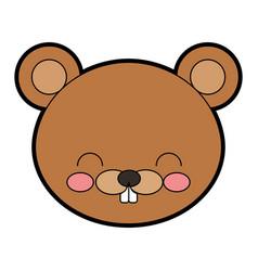 Cute beaver cartoon vector