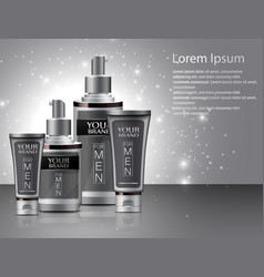 different types of cosmetics for men vector image vector image