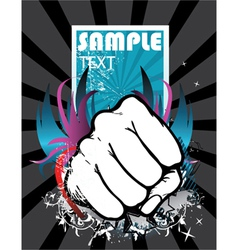 fist with background vector image vector image