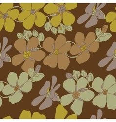 Floral seamless vintage pattern vector