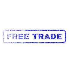 Free trade rubber stamp vector