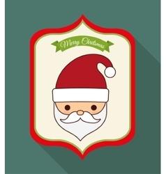 Kawaii santa of christmas season vector