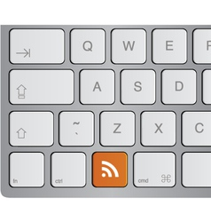 keyboard - rss feed vector image vector image
