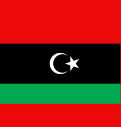 libya flag flat vector image vector image