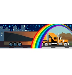 lorry vector image vector image