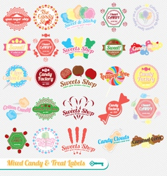 Mixed Candy Labels and Icons vector image vector image