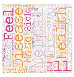 On dis ease text background wordcloud concept vector