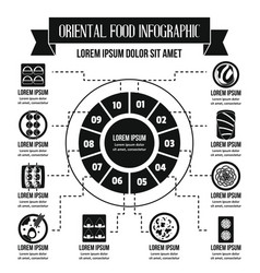 Oriental food infographic concept simple style vector