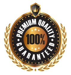 Premium quality guaranteed vector