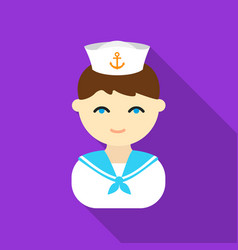 Sailor flat icon for web and mobile vector