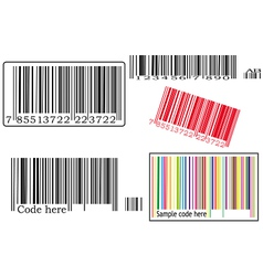 Set with barcodes vector image vector image