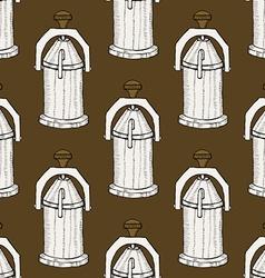 Sketch vintage geyser coffee maker vector