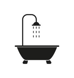 The shower icon bathroom symbol flat vector
