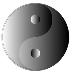 Yin and yang shades of grey vector