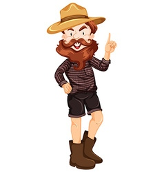 Man wearing hat and boots vector