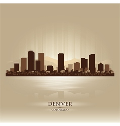 Denver Colorado skyline city silhouette vector image
