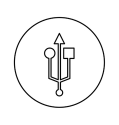 Usb symbol isolated icon vector