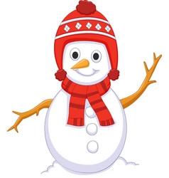 Cute snowman cartoon for you design vector