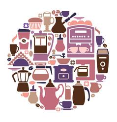symbols of coffee vector image