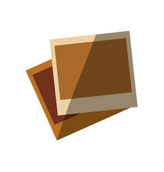 Blank instant photos vector