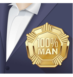 greeting card for men vector image