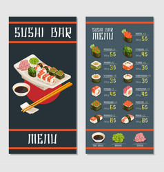 Japanese restaurant menu template vector