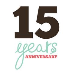15 years anniversary vector