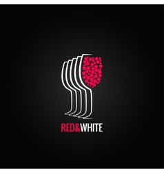Wine glass red and white backgraund vector