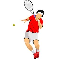 al 0636 tennis player vector image